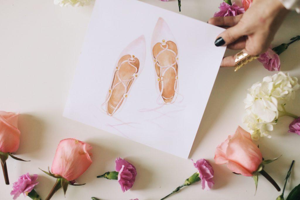 Merrick's Art Ballet Slipper Print