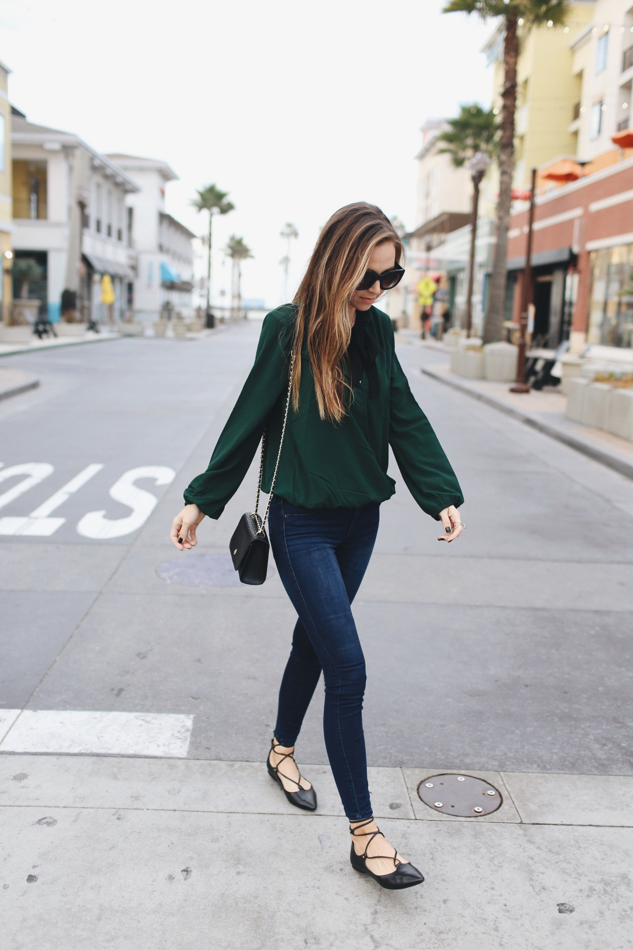 Merrick's Art | Green Top and Lace Up Flats