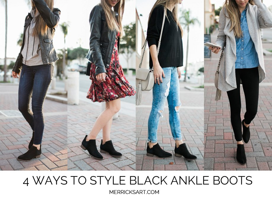 4 Ways to Style Black Ankle Boots