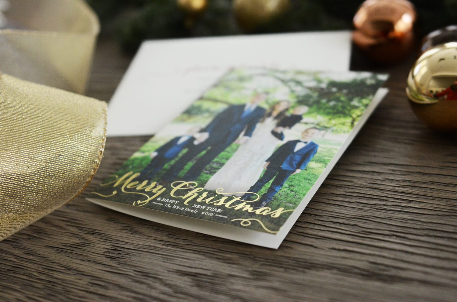 Merrick's Art Gold Foil Christmas Cards