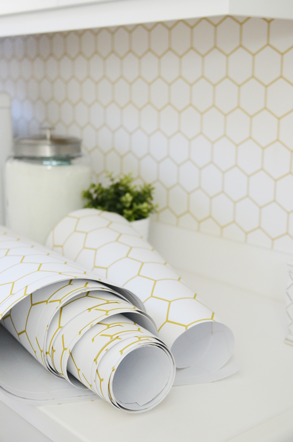Merrick's Art Gold Hexagon Wallpaper Walls Need Love