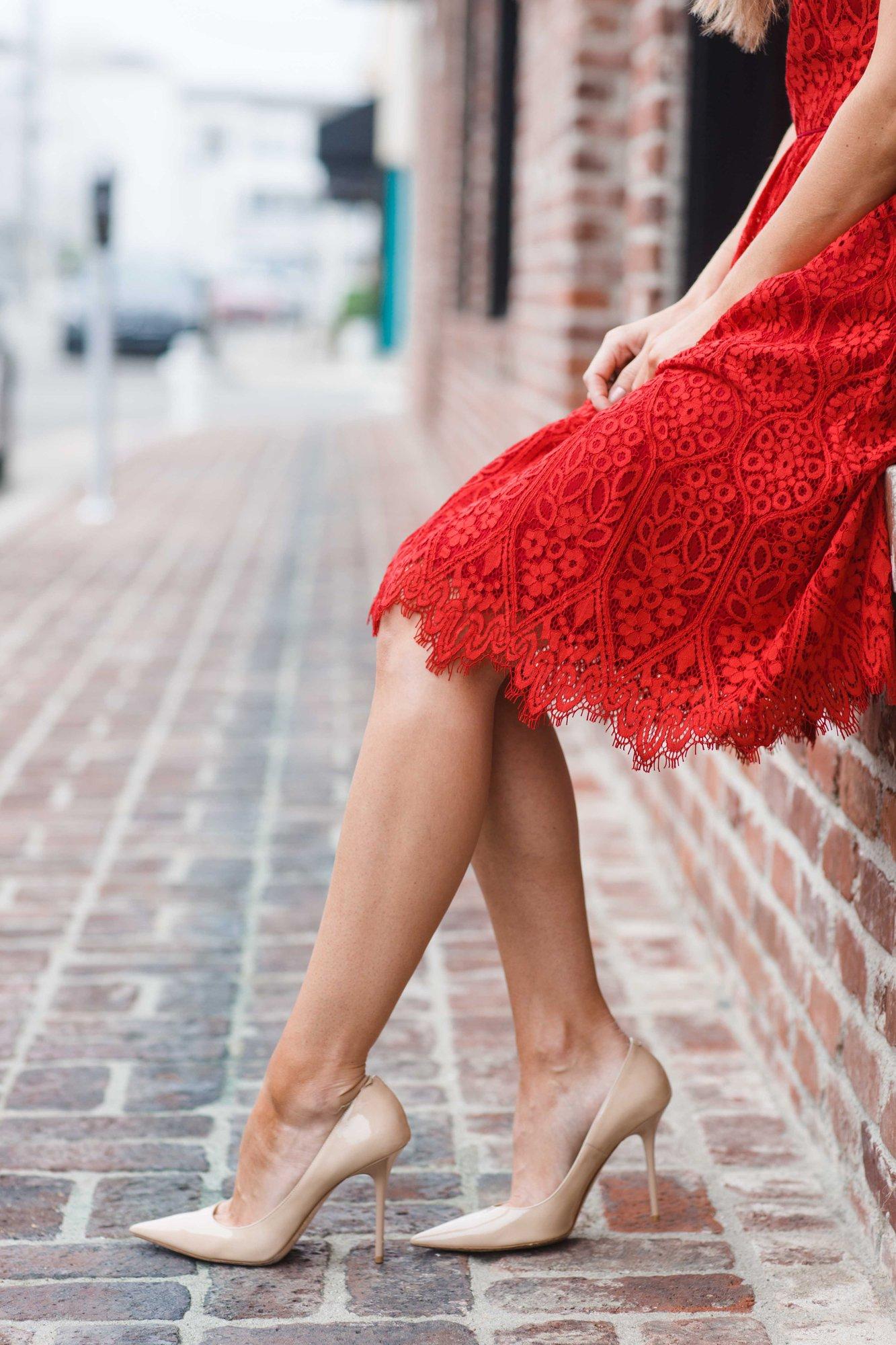 Little Red Lace Dress Merrick's Art