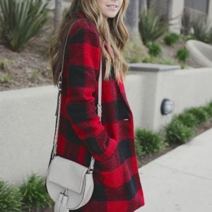Merrick's Art Buffalo Plaid Coat, Rebecca Minkoff Isobel Bag