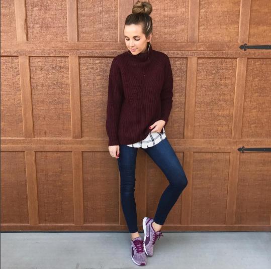 Merrick's Art Sweater and Sneakers