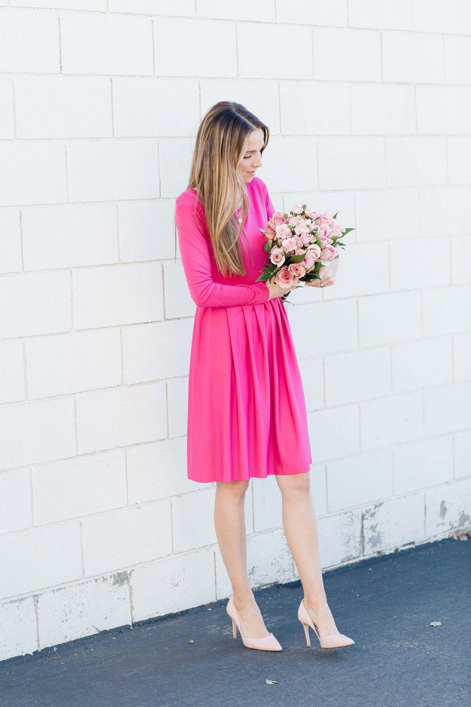 Merrick's Art Pink Pleated Dress