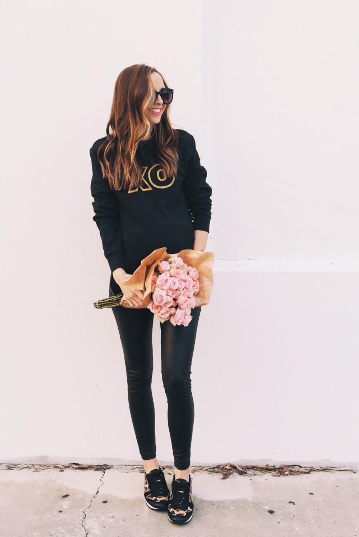 Merrick's Art XO Glitter Sweatshirt