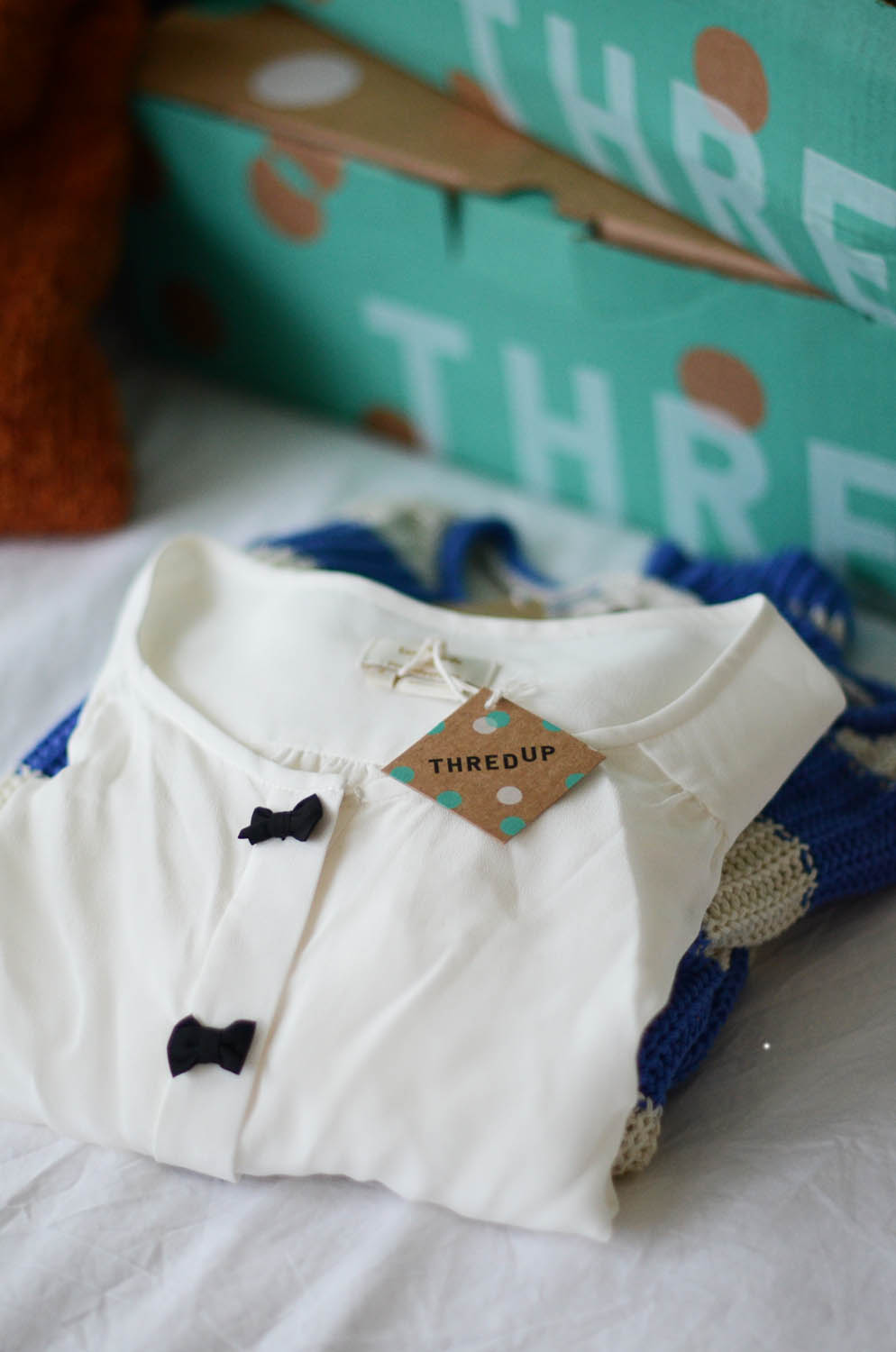 Merrick's Art thredUp Kate Spade Bow Blouse
