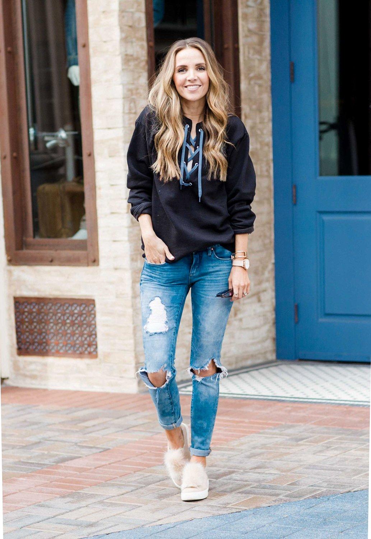 Merrick's Art Boyfriend Jeans Sweatshirt