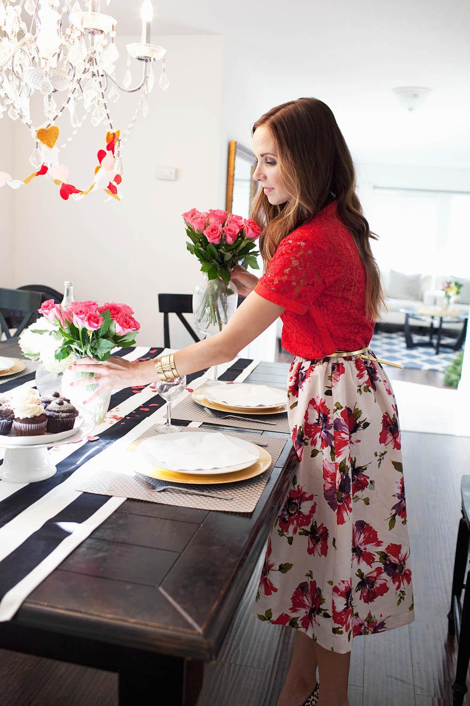 Merrick's Art Floral Midi Skirt