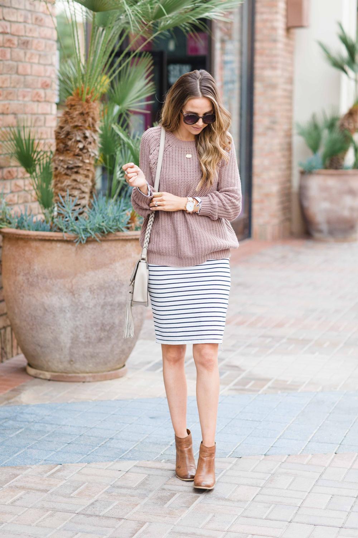 Merrick's Art Striped Skirt