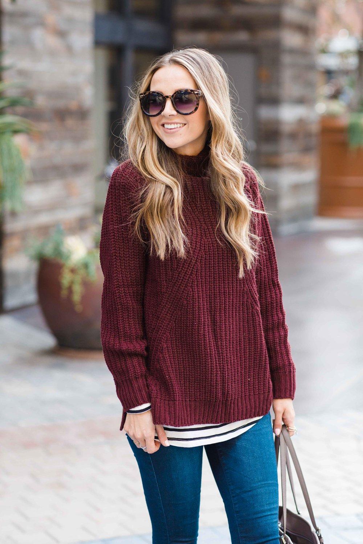 Merrick's Art Mock Neck Sweater