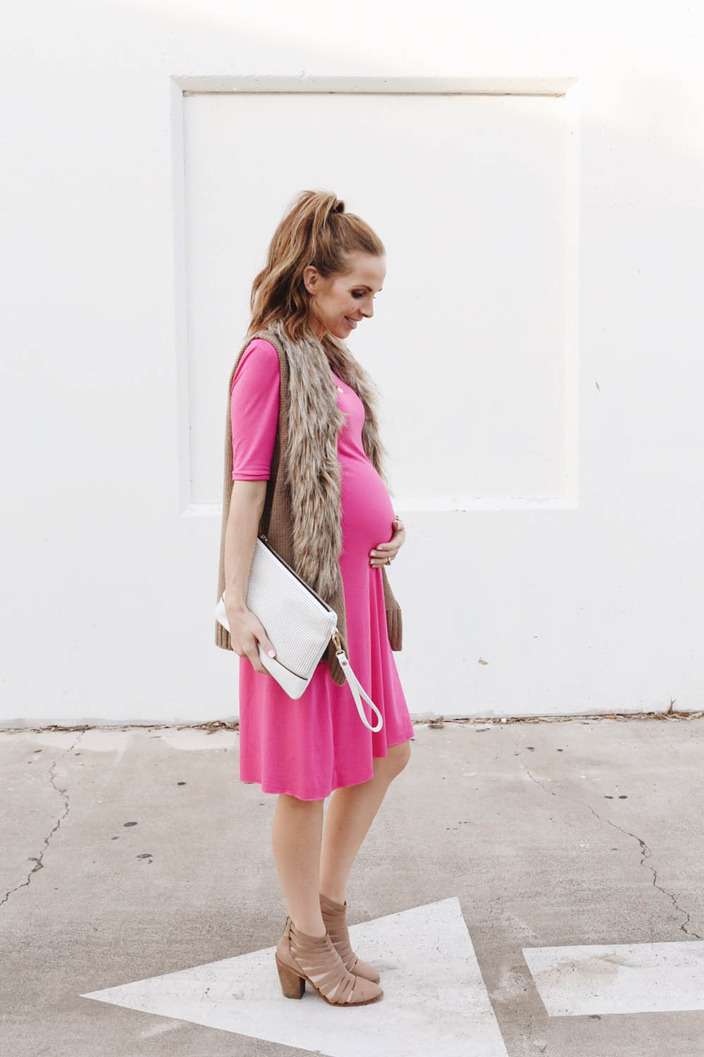 Merrick's Art Pink Swing Dress