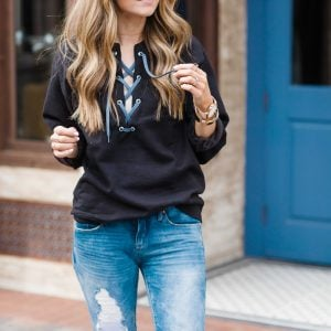 Merrick's art Lace up Sweatshirt
