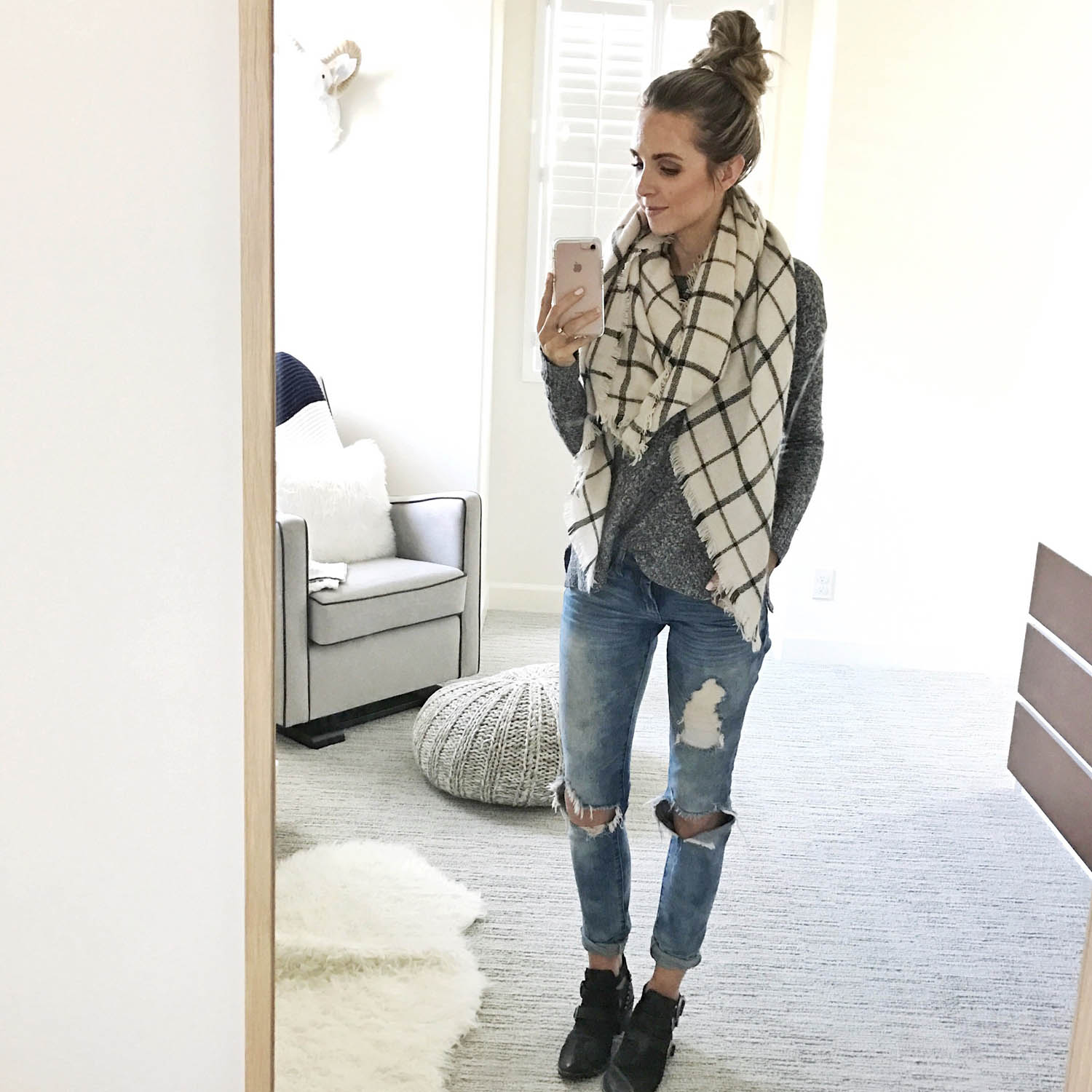 Sweater and Blanket Scarf