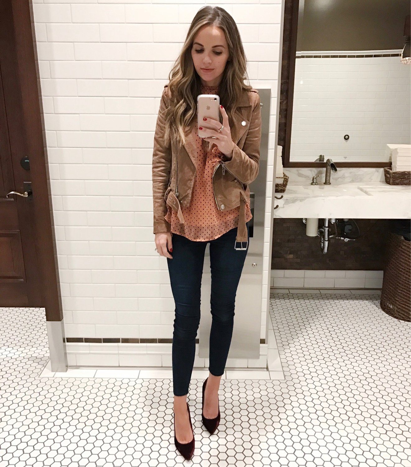 Merrick's Art Blush and Suede Blank NYC Jacket