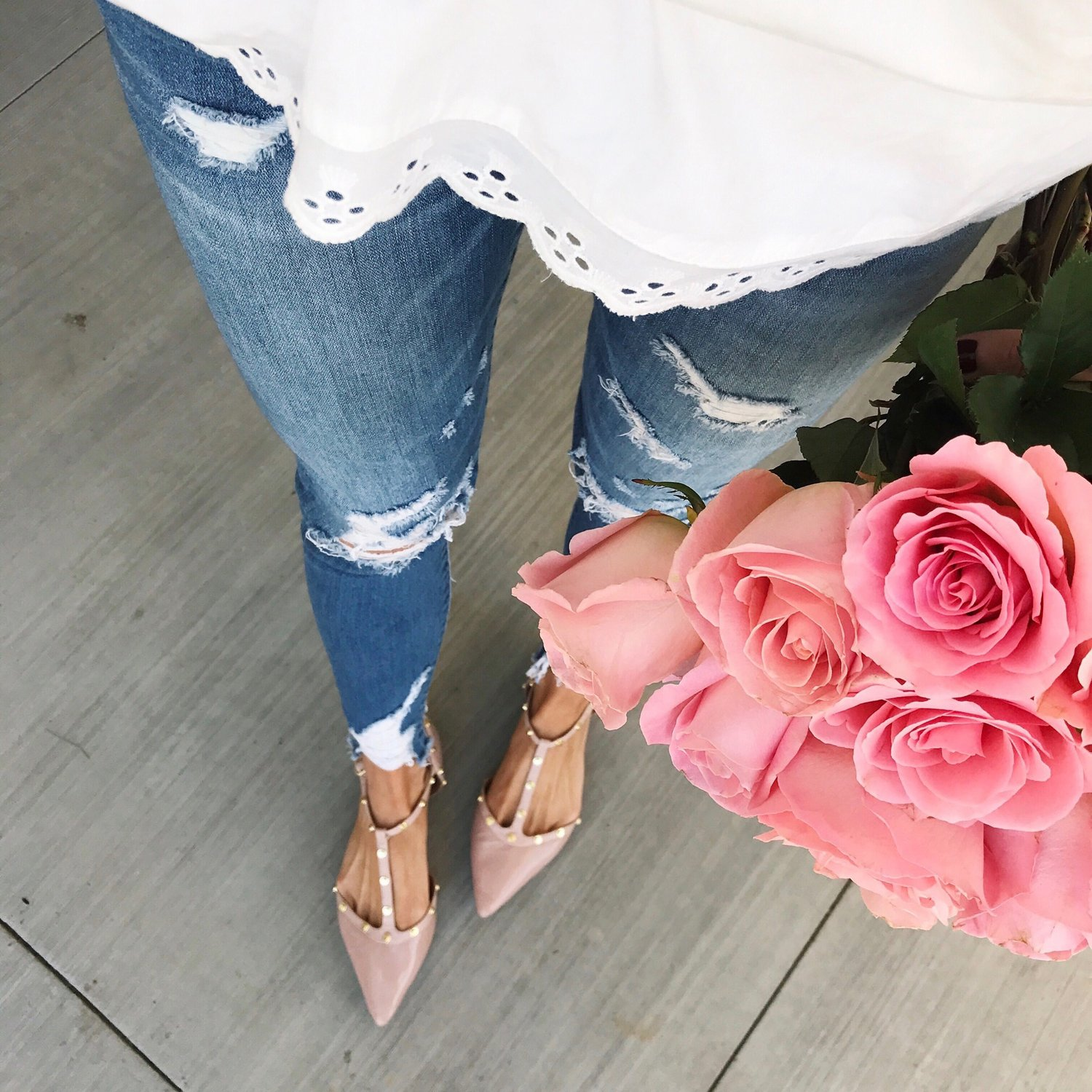 Merrick's Art Eyelet and Blush Flats