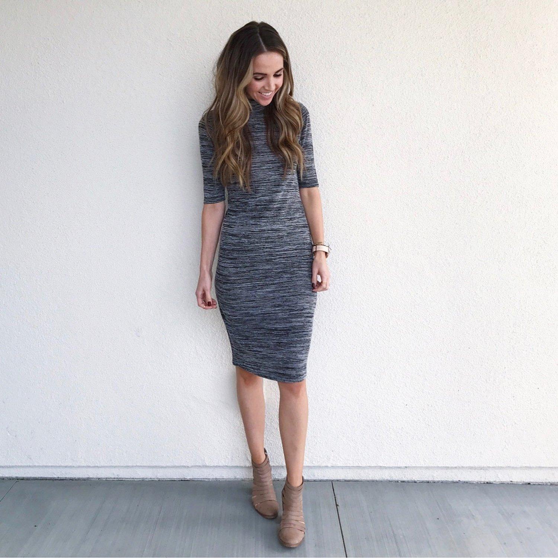 Merrick's Art Gray Bodycon Dress