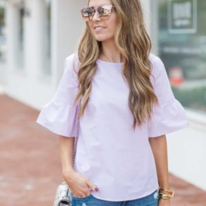 Merrick's Art J.Crew Bell Sleeve Top