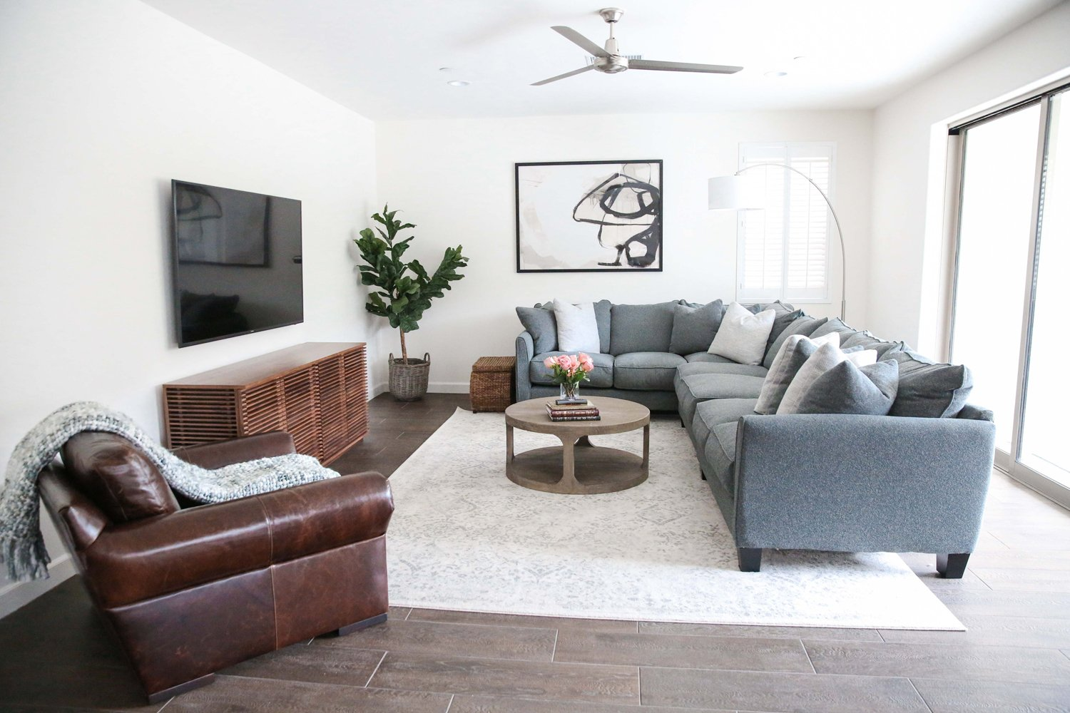 Merrick's Art Simple Neutral Living Room