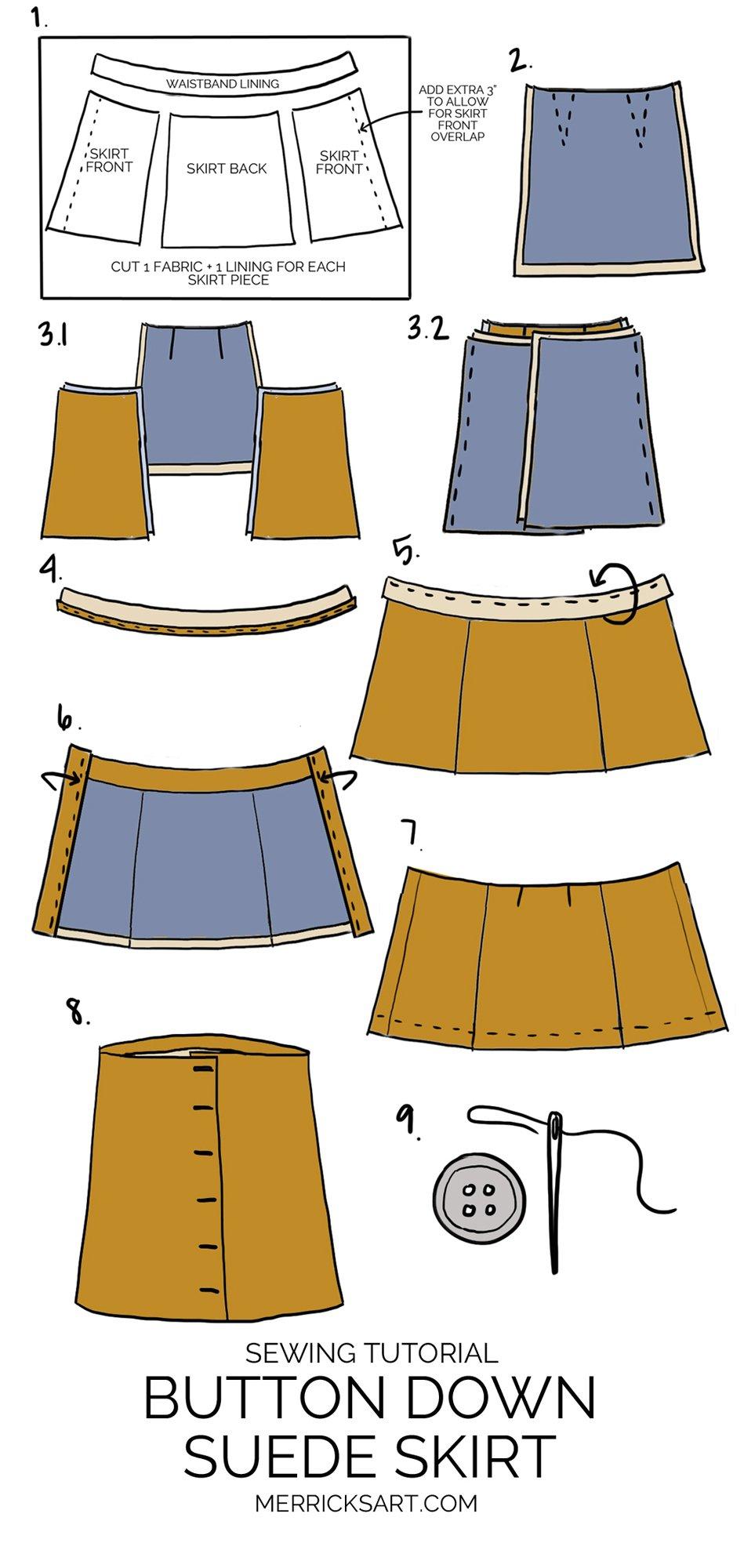7dddc0923 DIY Friday: Suede Button Down Skirt | Merrick's Art | Merrick's Art