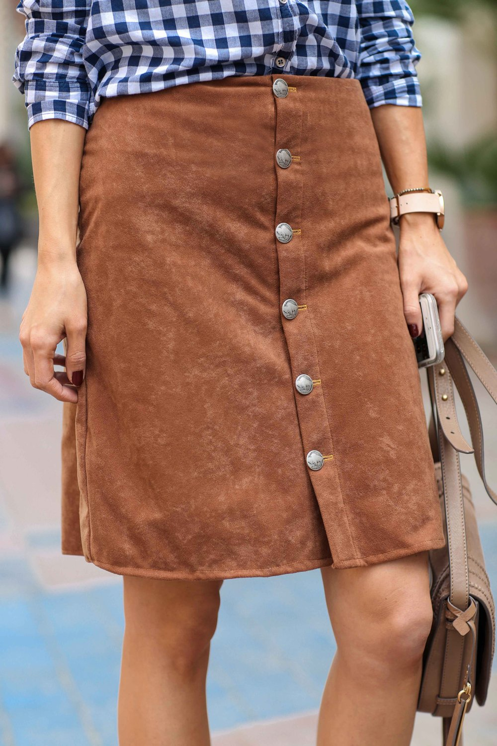 Merrick's Art Suede Skirt