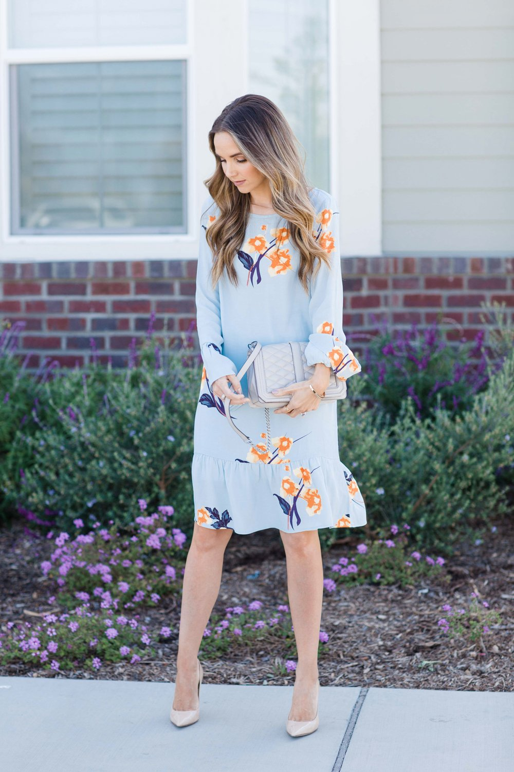 Merrick's Art Blue Floral Dress