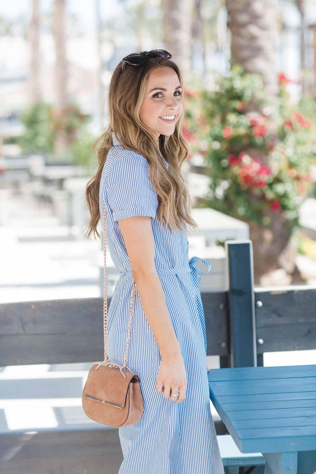 Merrick's Art Blue Shirtdress