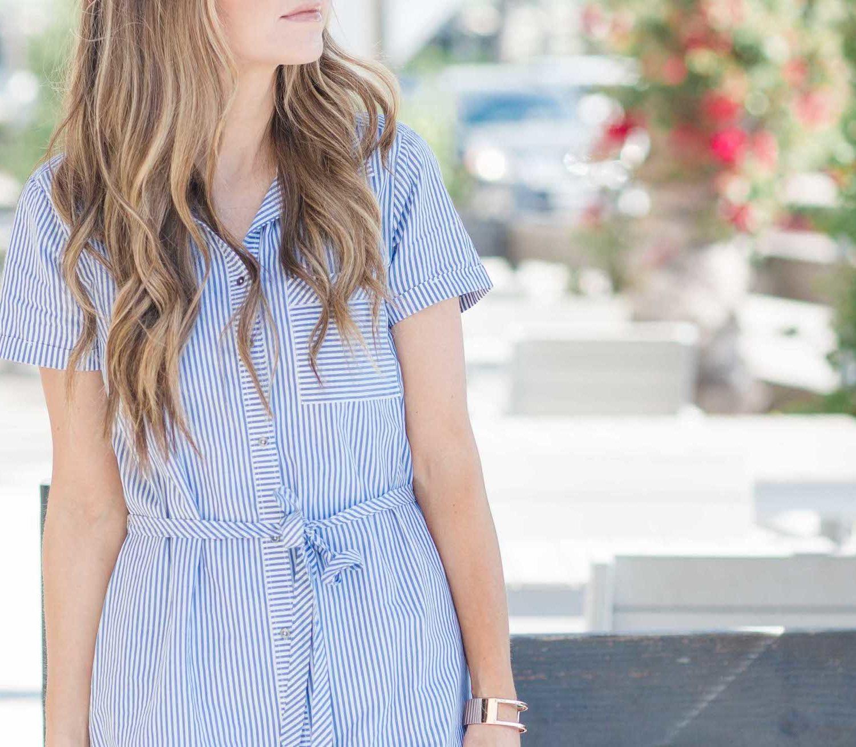 Merrick's Art Blue Striped Dress