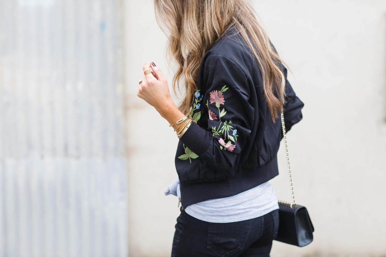 Merrick's Art Floral Bomber Jacket