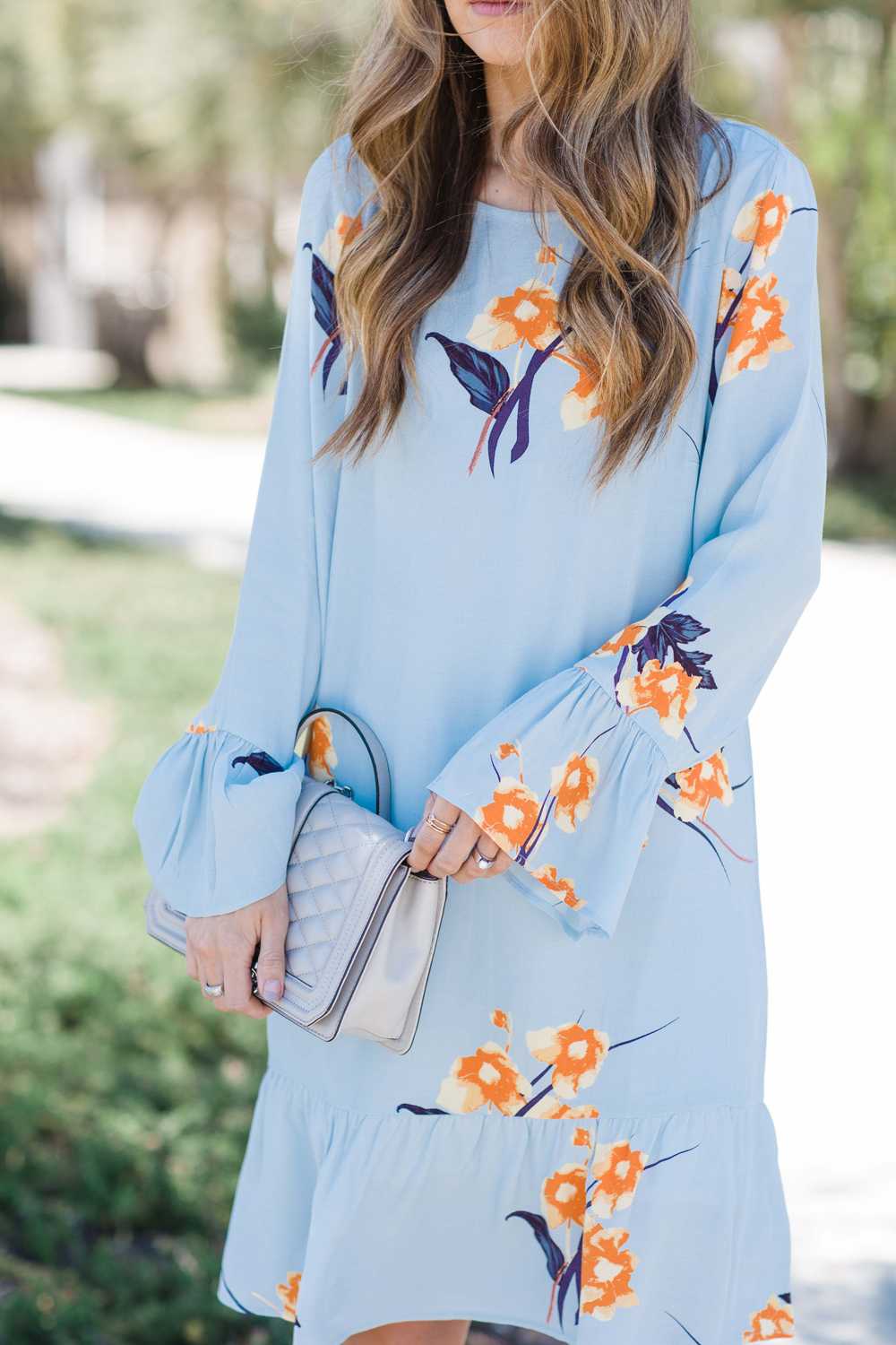 Merrick's Art Light Blue Floral Dress