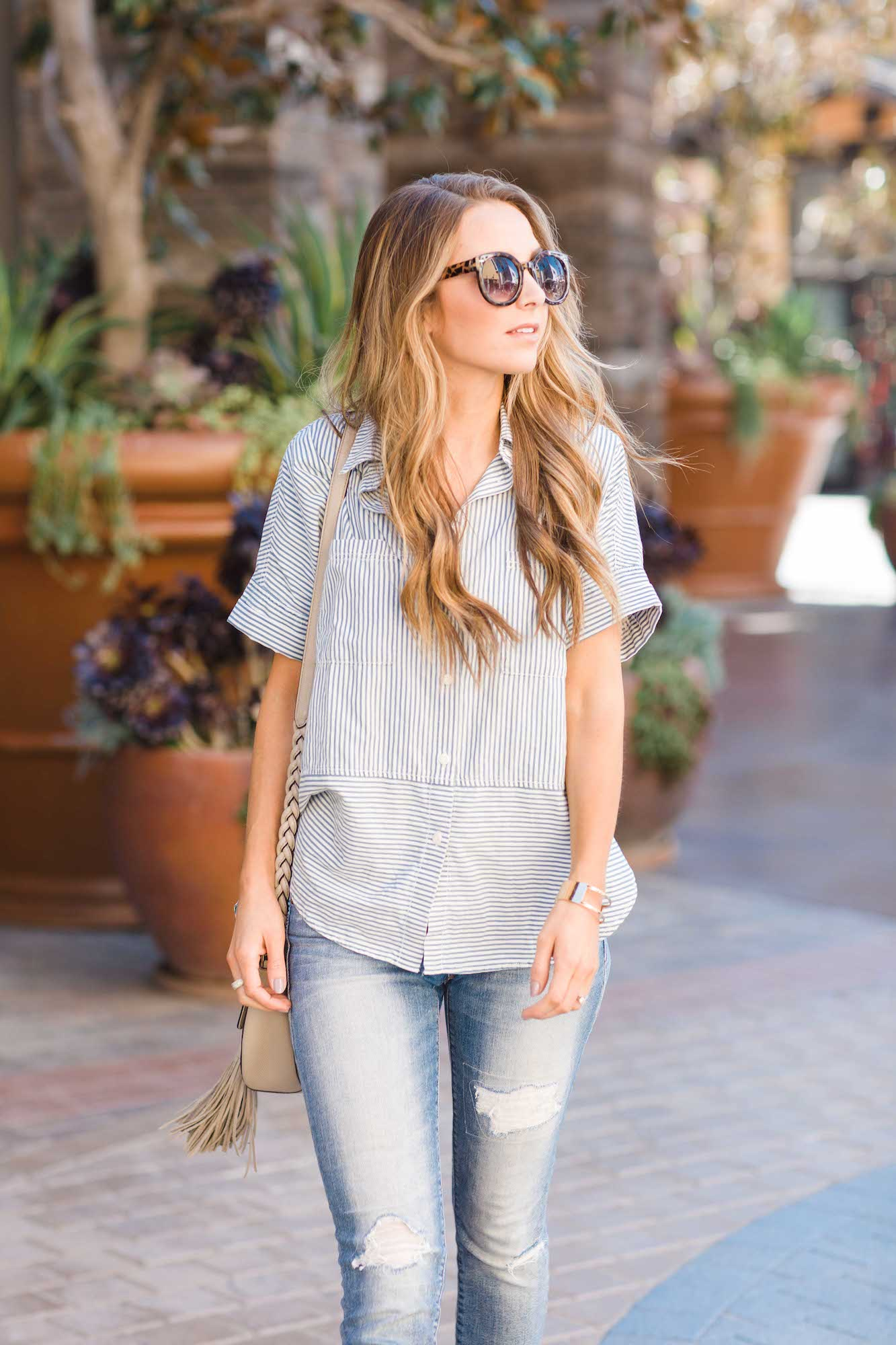 Merrick's Art Madewell Button Down Tee
