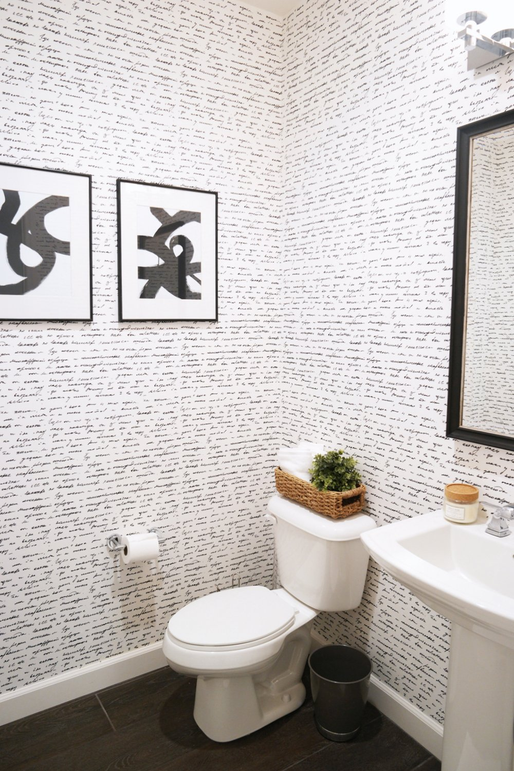 Merrick's Art Powder Bathroom Walls Need Love Wallpaper