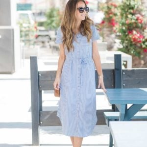 Merrick's Art Striped Shirtdress