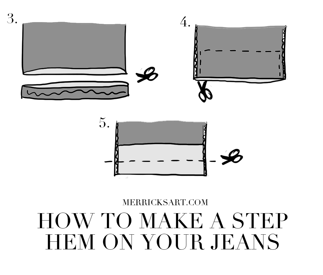 Merrick's Art step hem jeans