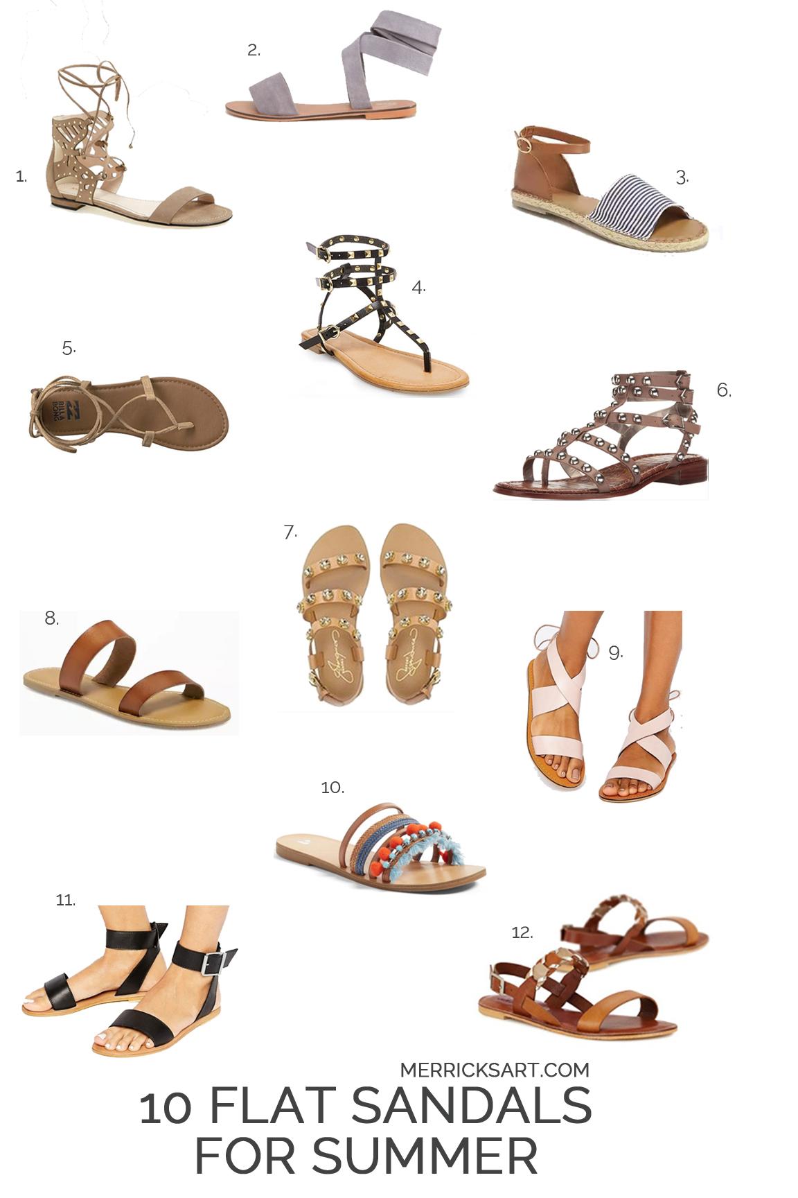 Merrick's Art | 12 Flat Summer Sandals