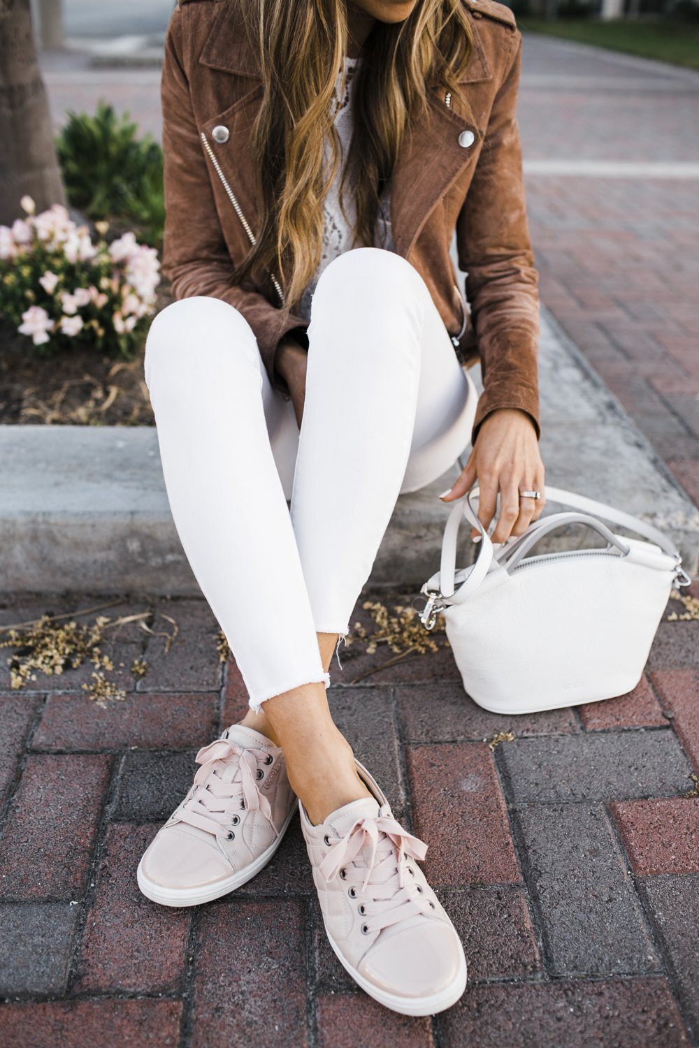 Blush Quilted Sneakers | Merrick's Art