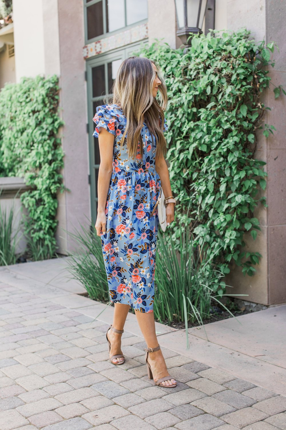 Merrick's Art Floral Midi Dress with Fabric from Rifle Paper Co