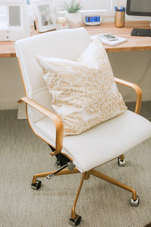 Merrick's Art Joss and Main white leather chair