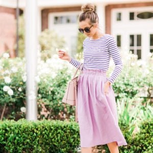 Merrick's Art Lilac Paper Bag Skirt