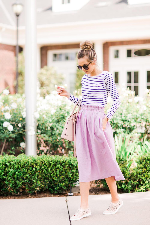 Merrick's Art Lilac Paper Bag Skirt
