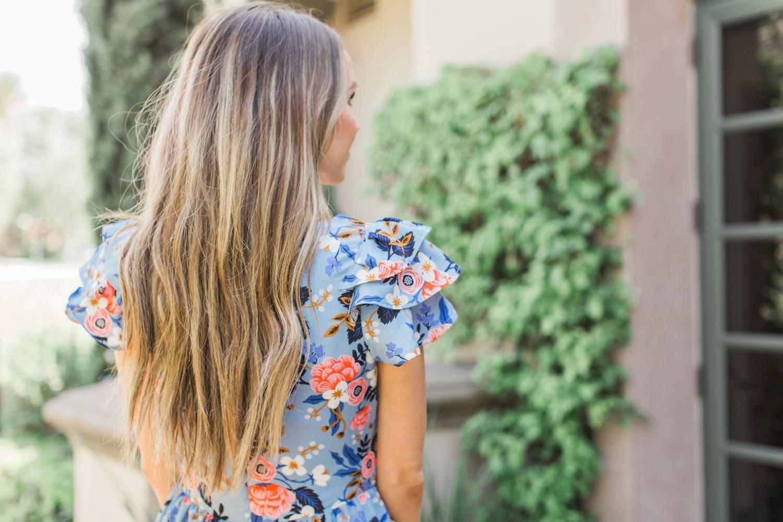 Merrick's Art Loose Curls and Floral Dress