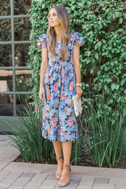 Merrick's Art Tiered Sleeves Midi Dress
