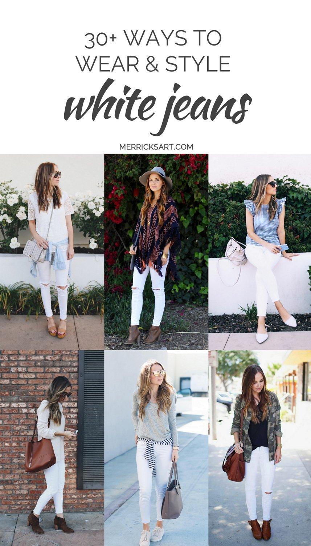 Merrick's Art | Wear + Style White Jeans