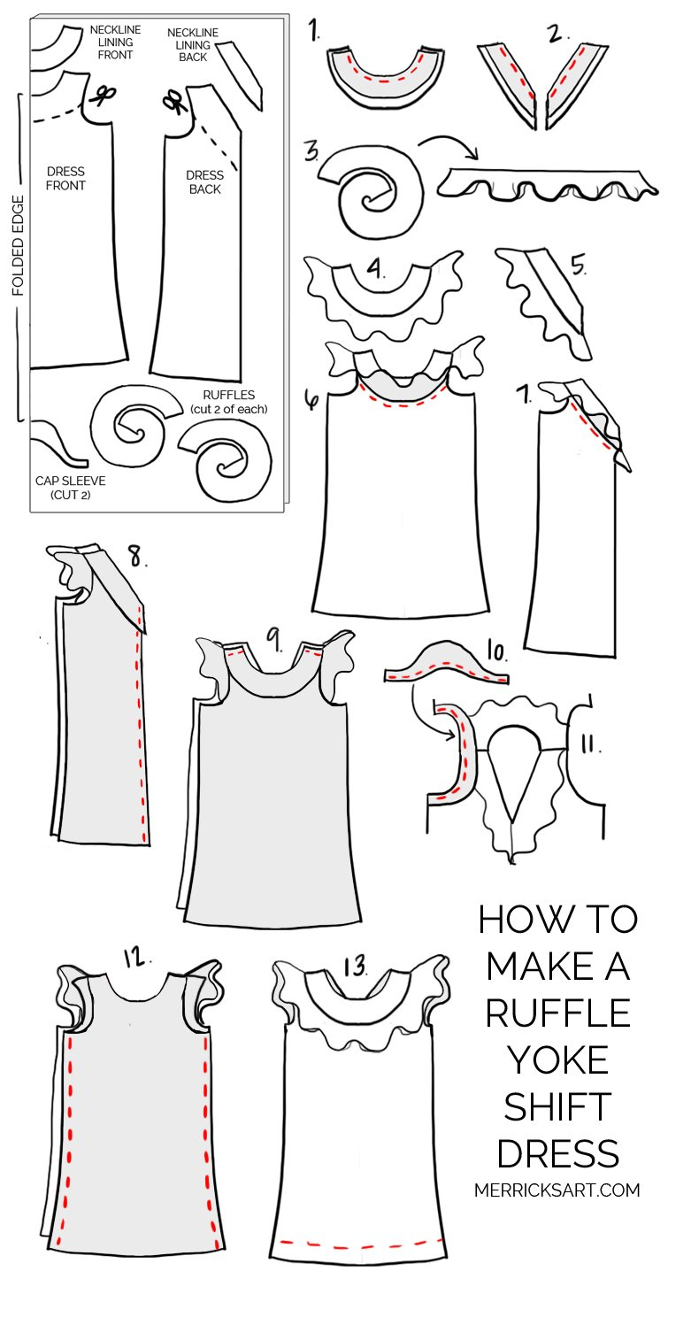 Merrick's Art DIY Ruffle Yoke Dress