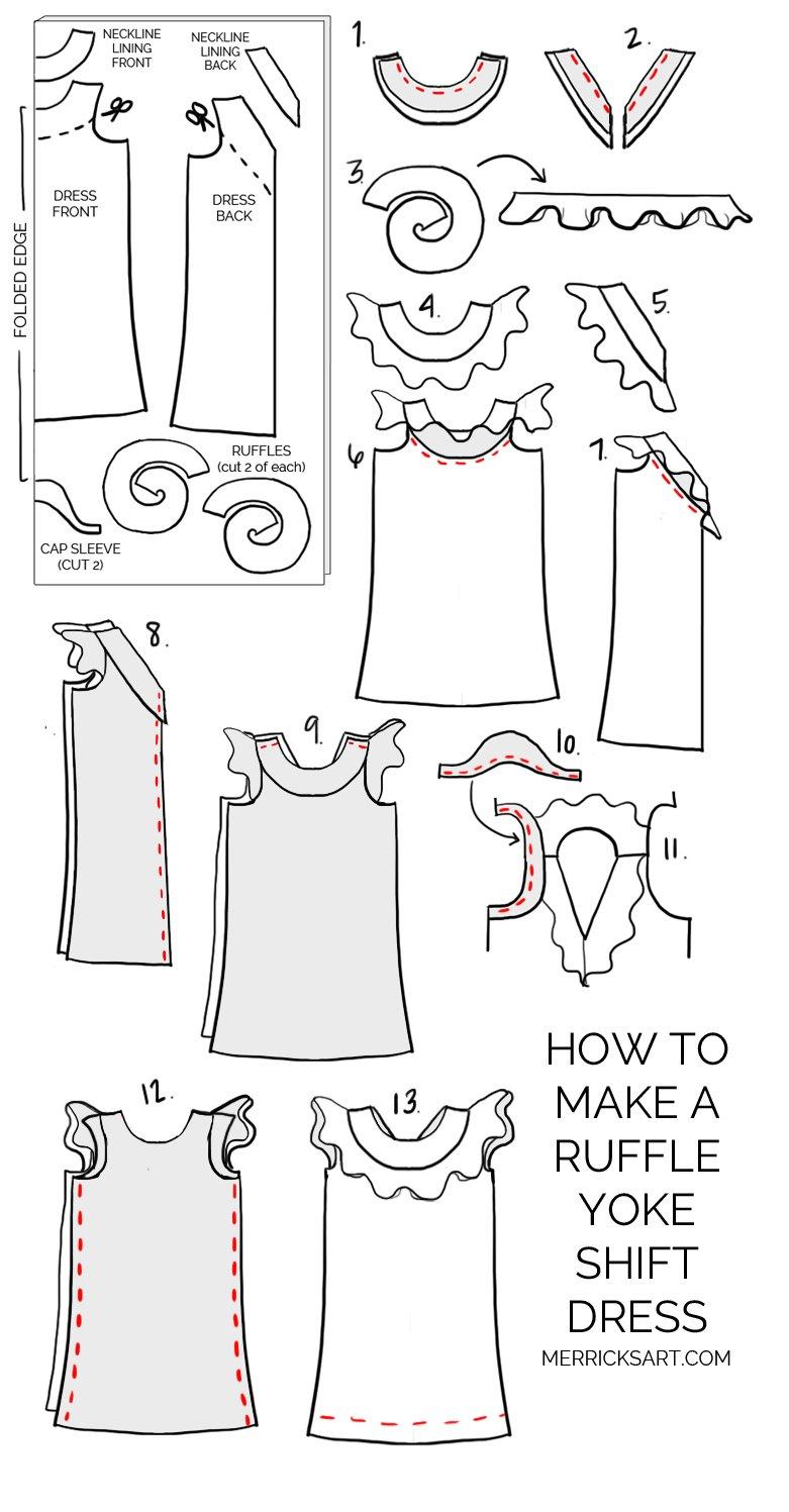 Merrick's Art DIY Ruffle Yoke Dress