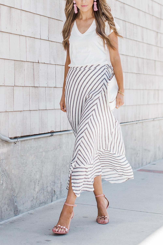 Merrick's Art Dressing Up a Basic White Tee and Linen Maxi Skirt