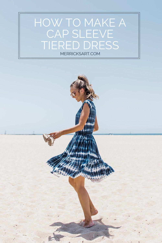 Merrick's Art How to Make a Cap Sleeve Tiered Dress