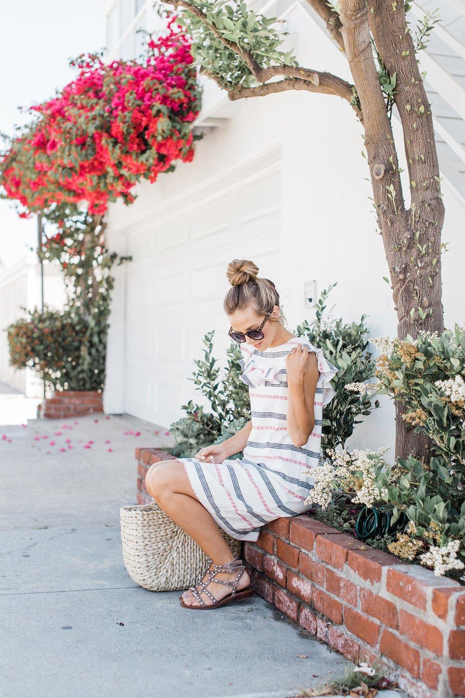 Merrick's Art Ruffle Neck Summer Dress