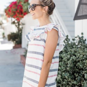Merrick's Art Ruffle Striped Summer Dress