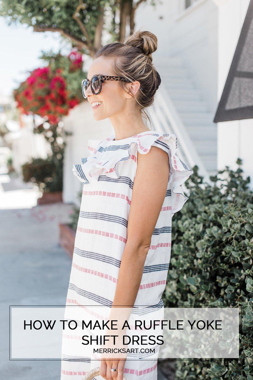 Merrick's Art Ruffle Striped Summer Dress Tutorial